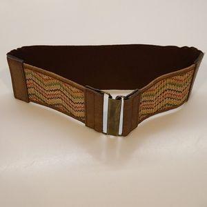Vintage stretchy brown multi belt